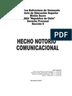 El Hecho Notorio Comunicacional