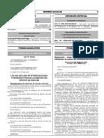 Ley que declara de interés nacional y necesidad pública la creación del distrito de Huaycán
