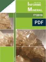 Informe Mineral 1º Semestre-2016 DNPM