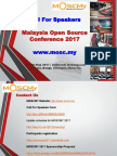 Malaysia Open Source Conference Call For Speakers - MOSCMY2017 Call for Speakers