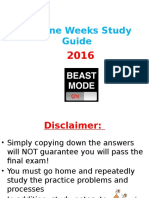 3rd Nine Weeks Study Guide 2016 Regular