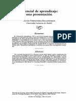 Fernández Ballesteros (1989). Potencial de aprendizaje. Una presentación (artículo).pdf