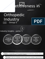 competitive strategy orthopedic industry