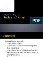 Topic 1 - 1D Array