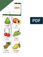 Kerja Jawi Naim Buah-buahan