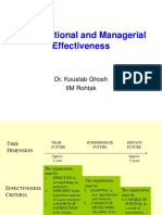 Organizational and Managerial Effectiveness