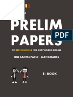 Exam18 ICSE Sample Paper Maths