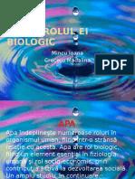 Apa Si Rolul Ei Biologic (1)