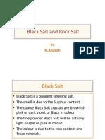 Black Salt and Rock Salt