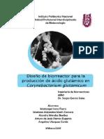 Diseño de Biorreactor Para La Producción de Ácido Glutámico Con Corynebacterium Glutamicum