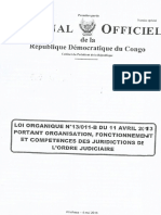 Loi Organique n13-011 Portant Organisation-fonctionnement Et Co