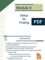 Module 6 - Setup for Posting