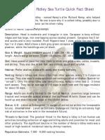 Kemp s Quick Fact Sheet