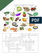 Food Crossword 2 Ano