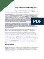 Descubrimiento y Conquista de La Argentina