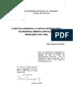 A arte da conquista o capital internacional no desenvolvimento capitalista brasileiro (1951-1992) - Fabio a de Campos.pdf