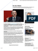 «Erdogan Sucht Den Eklat» - News International