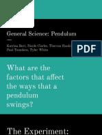 science project- pendulum investigaion