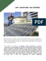 Calentador Solar Construido Con Botellas