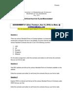 A1 Assignment 1
