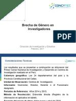 Las Brechas de Género Censo I+D en el Perú