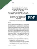 IDENTIFICACIÓN DE FLORA Y ANÁLISIS NUTRICIONAL DE MIEL DE ABEJA PARA LA PRODUCCIÓN APÍCOLA