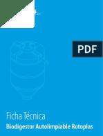 Ficha Tecnica Biodigestor Autolimpiable Rotoplas