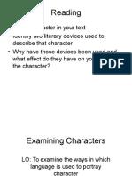 Examining Characters