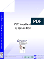 ITIL V3 Lifecycle Key Input and Outputs v3.3