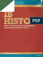 Peacemaking Peacekeeping 1918-36