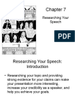 Chapter 7 Researching Your Speech