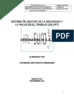 Anexo Documento Sistema de Gestión de La Seguridad y Salud en El Trabajo