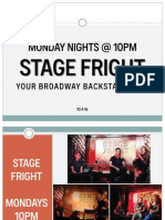 Stage Fright Booking Info 120916