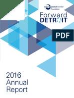 2016 Forward Detroit_Annual Report