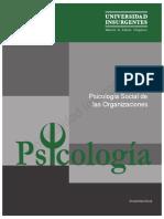 ME Psicología Social de Las Organizaciones Lic. en Psicología MA