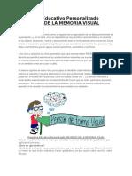Programa Educativo Personalizado Refuerzo de La Memoria Visual