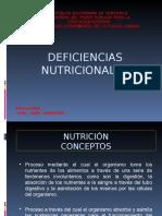 DIAPOSITIVAS DEFICIENCIAS NUTRICIONALES