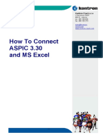 How to Connect ASPIC330 With MS Excel
