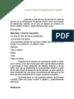 Elaboración y Uso de Saccharina en Alimentación de Ganado Bovino