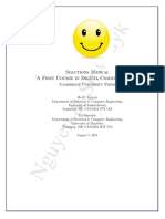 A First Course in Digital Communication Solution Manual by Nguyen HH