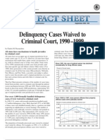 Delinquency Cases Waived to Criminal Court, 1990–1999