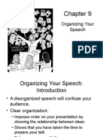 Chapter 9 Organizing Your Speech