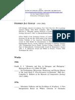 Bibliografia de Sthepen Jay Gould