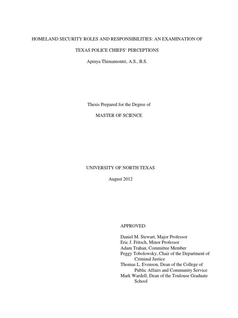Counter terrorism dissertation