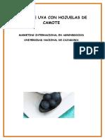 perfil del producto de yogur de uva