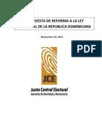 1 Proyecto LeyElectoral Pleno JCE Congreso