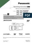 Manual Utilizare Panasonic AG AC160