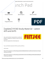 [Update] FIITJEE Study Material - Latest AITS and AIITS _ JEE Launch Pad