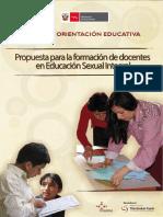 Propuesta Para La Formacion de Docentes en ESI