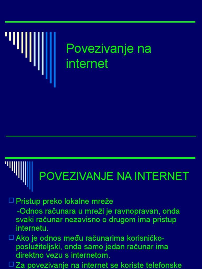 Načine povezivanja putem interneta